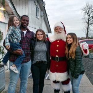 Santa Jim with Family