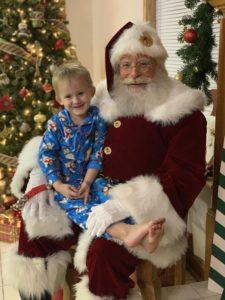 Santa Jim visits a little boy on Christmas Eve