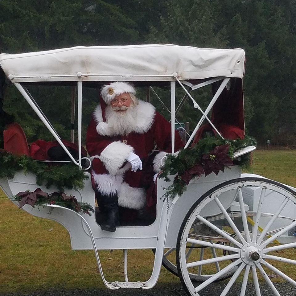 Santa Jim in Horse Carriage